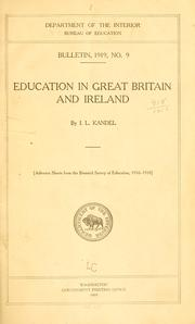 Cover of: Education in Great Britain and Ireland