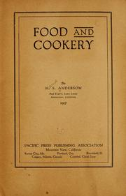 Food and cookery by Hans Steele Anderson