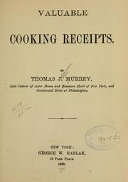 Cover of: Valuable cooking receipts
