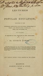 Cover of: Lectures on popular education