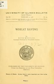 Cover of: Wheat saving