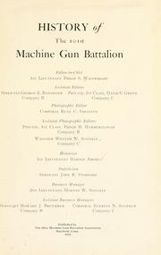 Cover of: History of the 101st machine gun battalion