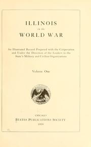 Cover of: Illinois in the World War by States Publications Society.