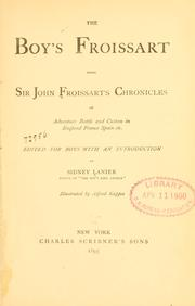 Cover of: The boy's Froissart