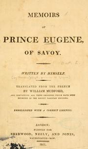 Cover of: Memoirs of Prince Eugene, of Savoy