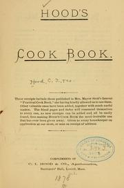 Cover of: Hood's cook book