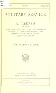 Cover of: Military service