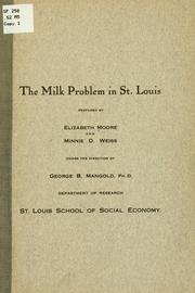 Cover of: The milk problem in St. Louis