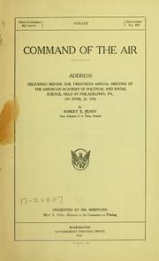 Cover of: Command of the air