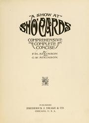 "Cover of: ""A show at"" sho' cards"