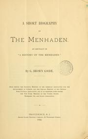 Cover of: short biography of the menhaden. |