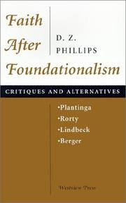 Cover of: Faith after foundationalism