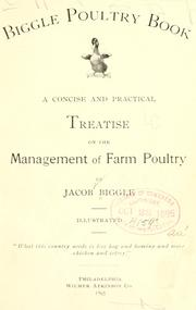 Cover of: Biggle poultry book