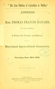"Cover of: ""The  true relation of agriculture to politics."""