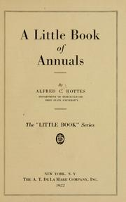 Cover of: A little book of annuals