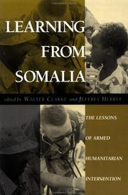 Cover of: Learning from Somalia