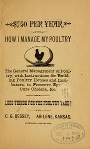 Cover of: $750 per year | C. G. Bessey