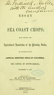 Cover of: Essay on sea coast crops