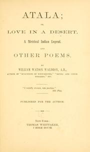 Cover of: Atala, or, Love in a desert