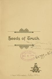 Cover of: Seeds of truth. | Alma Francis Brown Callicotte