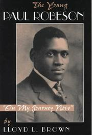 Cover of: The Young Paul Robeson