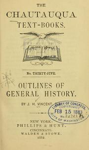 Cover of: Outlines of general history