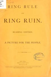 Cover of: Ring rule and ring ruin ..