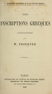 Cover of: Les inscriptions grecques