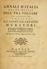 Cover of: Annali d'Italia dal principio dell'era volgare sino all'anno 1750