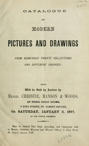 Cover of: Catalogue of modern pictures and drawings, from numerous private collections and different sources