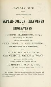 Cover of: Water-colour drawings and engravings; choice French and other engravings