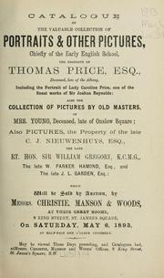 Cover of: Portraits & other pictures, chiefly of the early English schools
