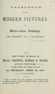 Cover of: Modern pictures and water-colour drawings