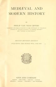 Cover of: Mediæval and modern history | P. V. N. Myers