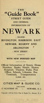 "Cover of: The ""guide book"" street guide and general information of Newark, including Irvington, Harrison, East Newark, Kearny and Arlington, New Jersey. 