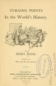 Cover of: Turning points in the world's history | Mann, Henry