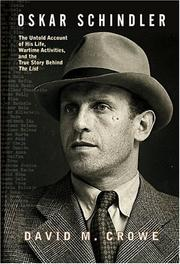 Cover of: Oskar Schindler | David Crowe