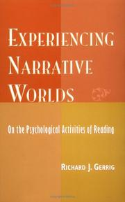 Cover of: Experiencing Narrative Worlds