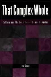 Cover of: That complex whole