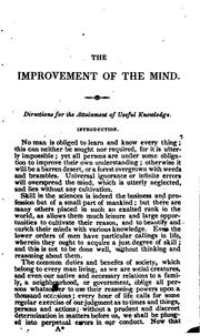 Cover of: The Improvement of the Mind