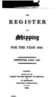 Cover of: Lloyd's Register of Shipping |