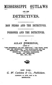 Cover of: Mississippi outlaws and the detectives: Don Pedro and the detectives. Poisoner and the detectives