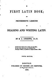 Cover of: First Latin Book