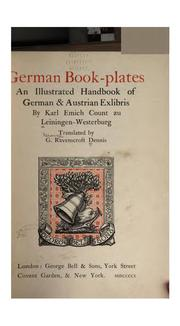 Cover of: German Book-plates: An Illustrated Handbook of German & Austrian Exlibris