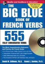 Cover of: The Big Blue Book of French Verbs (Book w/CD-ROM)