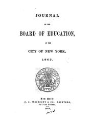 Journal by New York (N.Y .). Board of Education