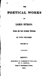 Cover of: The Poetical Works of Lord Byron ..