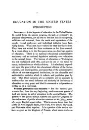 Cover of: Education in the United States: A Series of Monographs