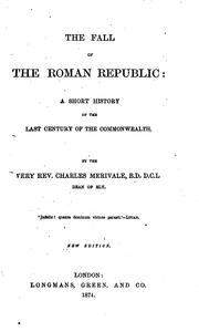 Cover of: The Fall of the Roman Republic: A Short History of the Last Century of the Commonwealth