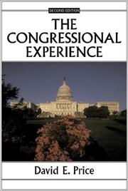 Cover of: The congressional experience | David Eugene Price